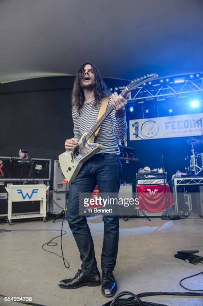 Brian Bell of Weezer performs live at Rachael Ray's Feedback party during SxSW at Stubb's BBQ on March 18 2017 in Austin Texas