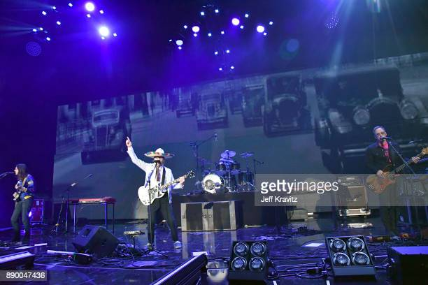 Brian BellRivers CuomoPatrick WilsonScott Shriner of Weezer performs at the KROQ Almost Acoustic Christmas 2017 Night 1 on December 10 2017 at the...