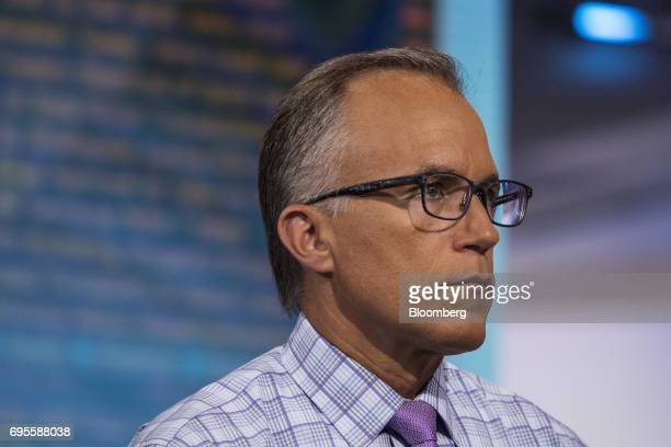 Brian Belski chief investment strategist for BMO Capital Markets Corp listens during a Bloomberg Television interview in New York US on Tuesday June...