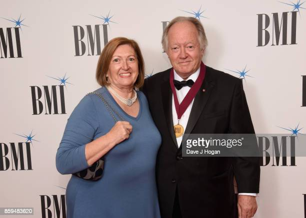 Brian Bennett and guest attend the BMI London Awards at The Dorchester on October 9 2017 in London England