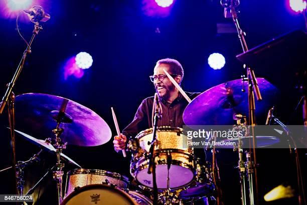 Brian Blade Performs at Jazz Middelheim Festival on August 03 2017 in Antwerp Belgium