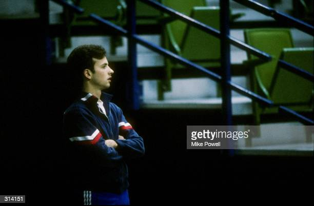 Brian Boitano of the United States looks on during Skate Canada in Calgary Canada