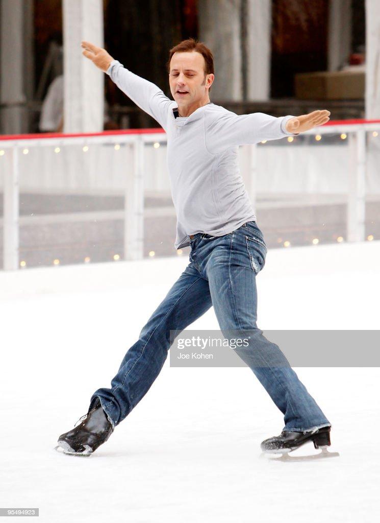Brian Boitano Skates At The Rink At Rockefeller Center