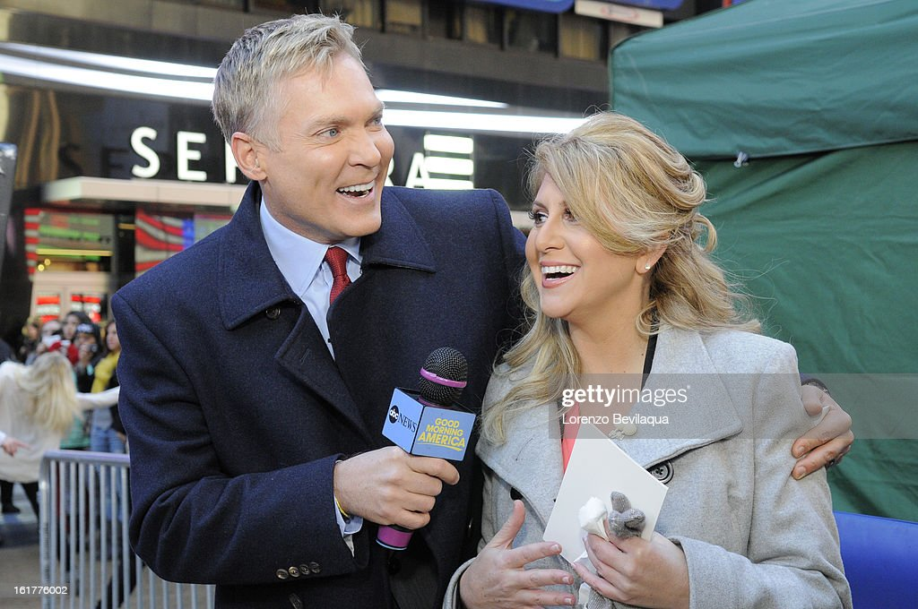 AMERICA - Brian Bondy suprised Melissa Cohn (now Melissa Bondy) with a marriage proposal and flash wedding live on 'Good Morning America,' 2/14/13, airing on the ABC Television Network. (Photo by Lorenzo Bevilaqua/ABC via Getty Images) SAM