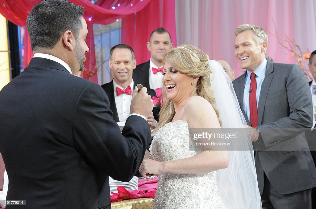 AMERICA - Brian Bondy suprised Melissa Cohn (now Melissa Bondy) with a marriage proposal and flash wedding live on 'Good Morning America,' 2/14/13, airing on the ABC Television Network. (Photo by Lorenzo Bevilaqua/ABC via Getty Images) BRIAN