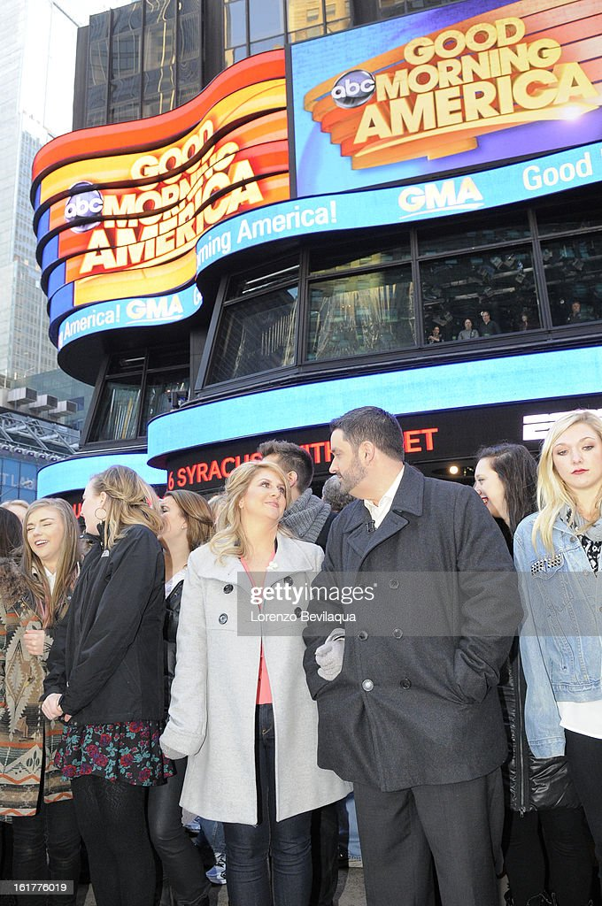 AMERICA - Brian Bondy suprised Melissa Cohn (now Melissa Bondy) with a marriage proposal and flash wedding live on 'Good Morning America,' 2/14/13, airing on the ABC Television Network. (Photo by Lorenzo Bevilaqua/ABC via Getty Images) MELISSA