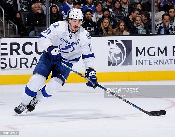 Brian Boyle of the Tampa Bay Lightning skates during the game against the Los Angeles Kings on December 6 2015 at STAPLES Center in Los Angeles...
