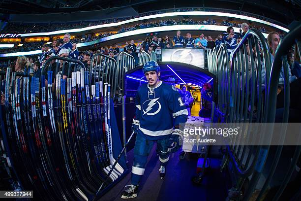 Brian Boyle takes the ice before the Tampa Bay Lightning game against the Los Angeles Kings at the Amalie Arena on November 25 2015 in Tampa Florida