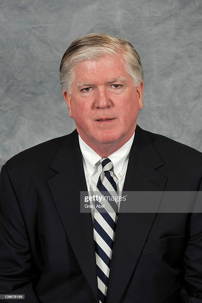 <a gi-track='captionPersonalityLinkClicked' href=/galleries/search?phrase=Brian+Burke&family=editorial&specificpeople=546491 ng-click='$event.stopPropagation()'>Brian Burke</a> of the Toronto Maple Leafs poses for his official headshot for the 2010-2011 season at the Mastercard Centre for Hockey Excellence SEPTEMBER 17, 2010 in Toronto, Ontario, Canada.