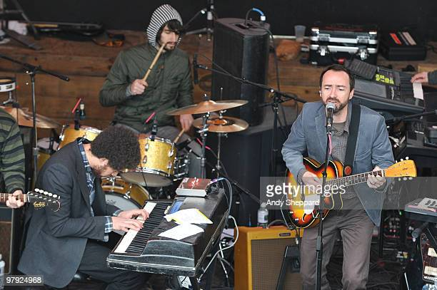 Brian Burton aka Danger Mouse and James Mercer of Broken Bells performs at Mohawk during day 4 of SXSW 2010 Music Festival on March 20 2010 in Austin...