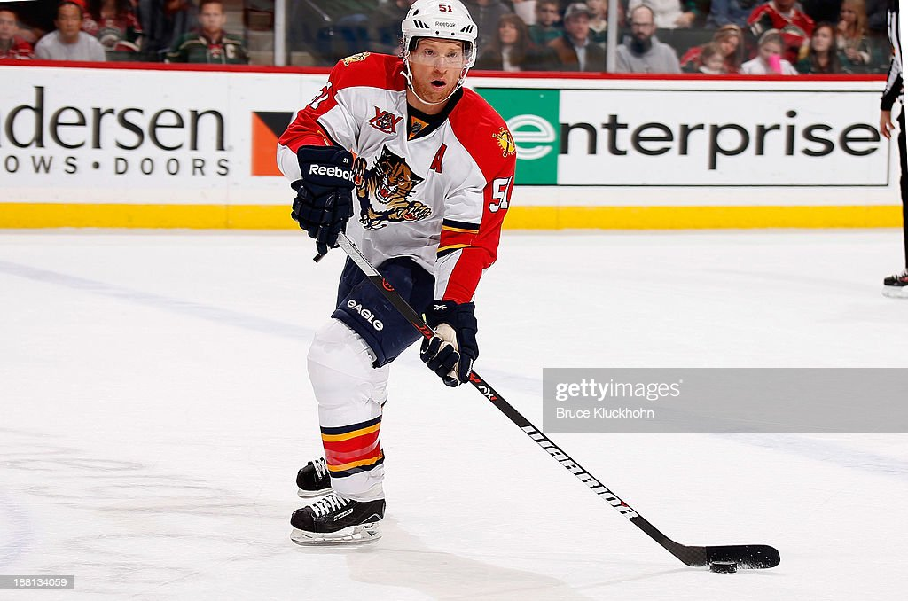 <a gi-track='captionPersonalityLinkClicked' href=/galleries/search?phrase=Brian+Campbell+-+Ice+Hockey+Player&family=editorial&specificpeople=209384 ng-click='$event.stopPropagation()'>Brian Campbell</a> #51 of the Florida Panthers skates against the Minnesota Wild during the game on November 15, 2013 at the Xcel Energy Center in St. Paul, Minnesota.