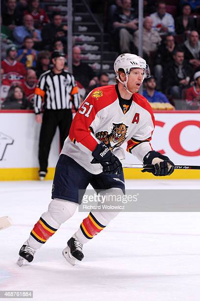 Brian Campbell of the Florida Panthers skates during the NHL game against the Montreal Canadiens at the Bell Centre on March 28 2015 in Montreal...