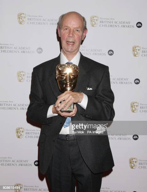Brian Cant with his Special Award during the British Academy Children's Awards 2010 at the London Hilton on Park Lane central London