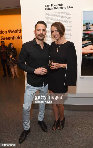 Brian Carter and Actor Kristen Doute at GENERATION WEALTH By Lauren Greenfield at Annenberg Space For Photography on April 6 2017 in Century City...