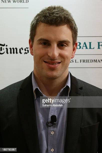 Brian Chesky CEO and CoFounder AirBNB arrives for the International New York Times Global Forum Singapore Thomas L Friedman's The Next New World...