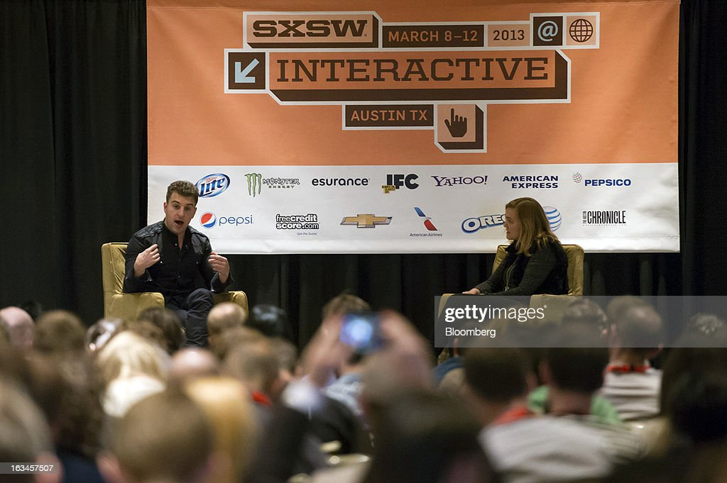 Brian Chesky, co-founder and chief executive officer of Airbnb Inc., speaks during an interview at the South By Southwest Conference in Austin, Texas, U.S., on Sunday, March 10, 2013. The 20th annual SXSW Interactive Festival takes place March 8-12. Photographer: David Paul Morris/Bloomberg via Getty Images