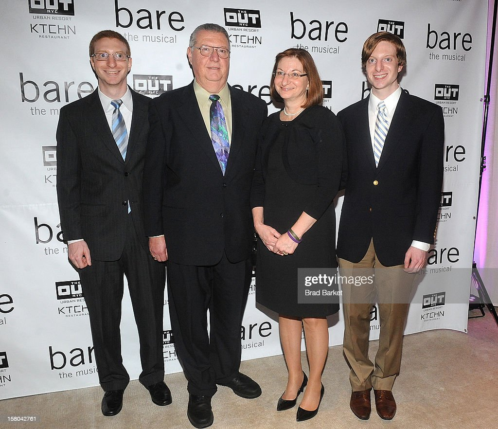 Brian Clementi, Joseph Clementi, Jane Clementi, and James Clementi attends 'BARE The Musical' Opening Night After Party at Out Hotel on December 9, 2012 in New York City.