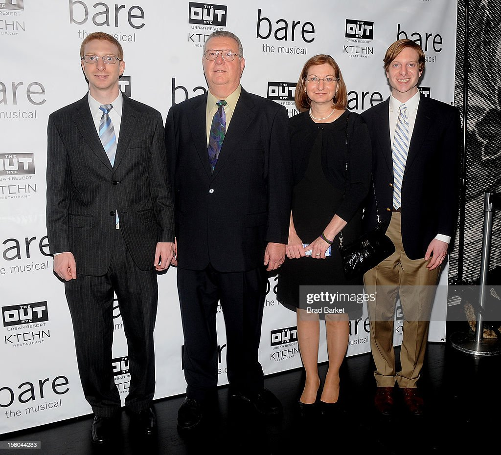 Brian Clementi, Joseph Clementi, Jane Clementi and James Clementi attend 'BARE The Musical' Opening Night at New World Stages on December 9, 2012 in New York City.