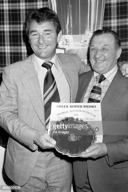 Brian Clough left manager of League champions and League Cup winners Nottingham Forest with Bob Paisley manager of European champions Liverpool after...