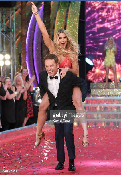 Brian Conley and Gemma Atkinson attend the 'Strictly Come Dancing 2017' red carpet launch at Broadcasting House on August 28 2017 in London England