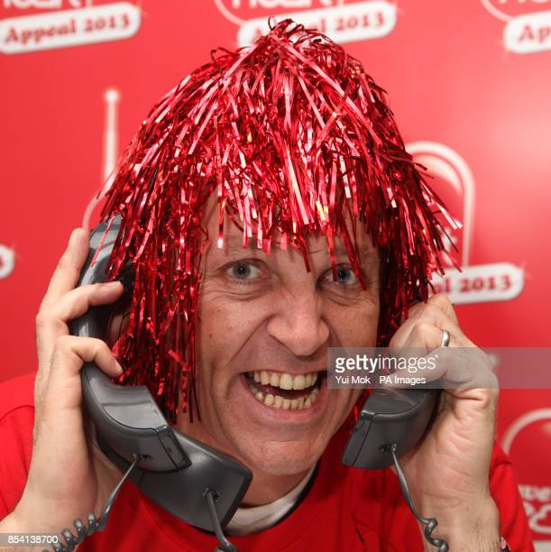 Brian Conley in the call centre during Heart FM's Have a Heart Appeal 2013 at Global Radio in Leicester Square central London