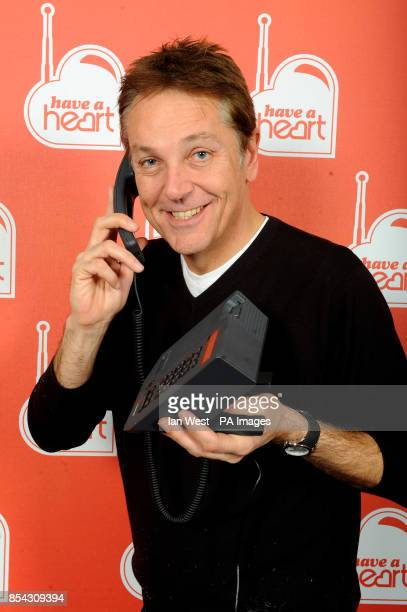 Brian Conley takes part in Heart FM's Have a Heart Appeal at Global radio in London