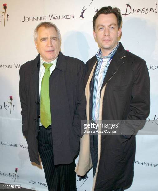 Brian Cox and Alan Cox during Johnnie Walker Presents 'Dressed to Kilt' Arrivals and Backstage at Synod House at St John the Divine Cathedral Garden...