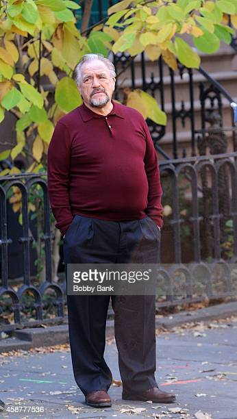 Brian Cox on the set of 'The Slap' on November 10 2014 in New York City