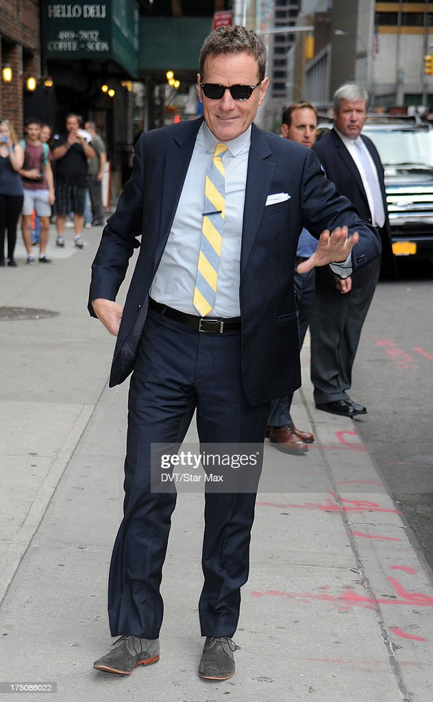 Brian Cranston is sighted on July 30, 2013 in New York City.