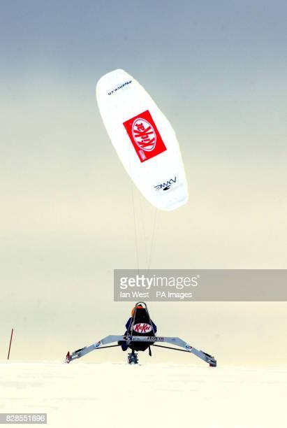 Brian Cunningham aged 59 a Northern Irishman who live in Bolton piloting the stateoftheart Kit Kat kitepowered buggy designed by Williams F1 engineer...