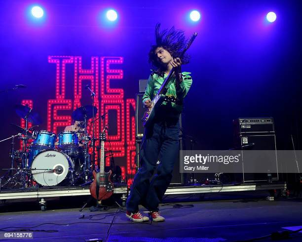 Brian D'Addario and Michael D'Addario of The Lemon Twigs perform in concert during day 1 of the Bonnaroo Music Arts Festival on June 8 2017 in...