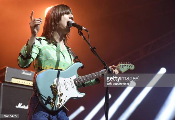 Brian D'Addario of The Lemon Twigs performs during the 2017 Bonnaroo Arts and Music Festival on June 8 2017 in Manchester Tennessee