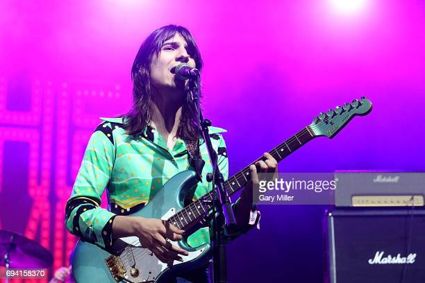 Brian D'Addario of The Lemon Twigs performs in concert during day 1 of the Bonnaroo Music Arts Festival on June 8 2017 in Manchester Tennessee