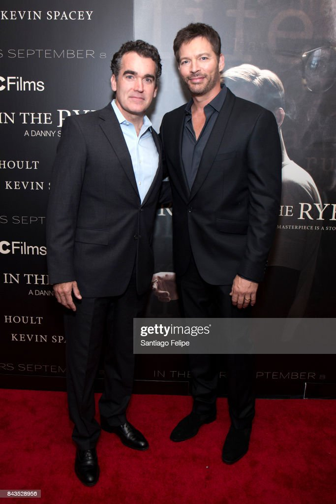 Brian D'arcy James and Harry Connick Jr attend 'Rebel In The Rye' New York premiere at Metrograph on September 6, 2017 in New York City.