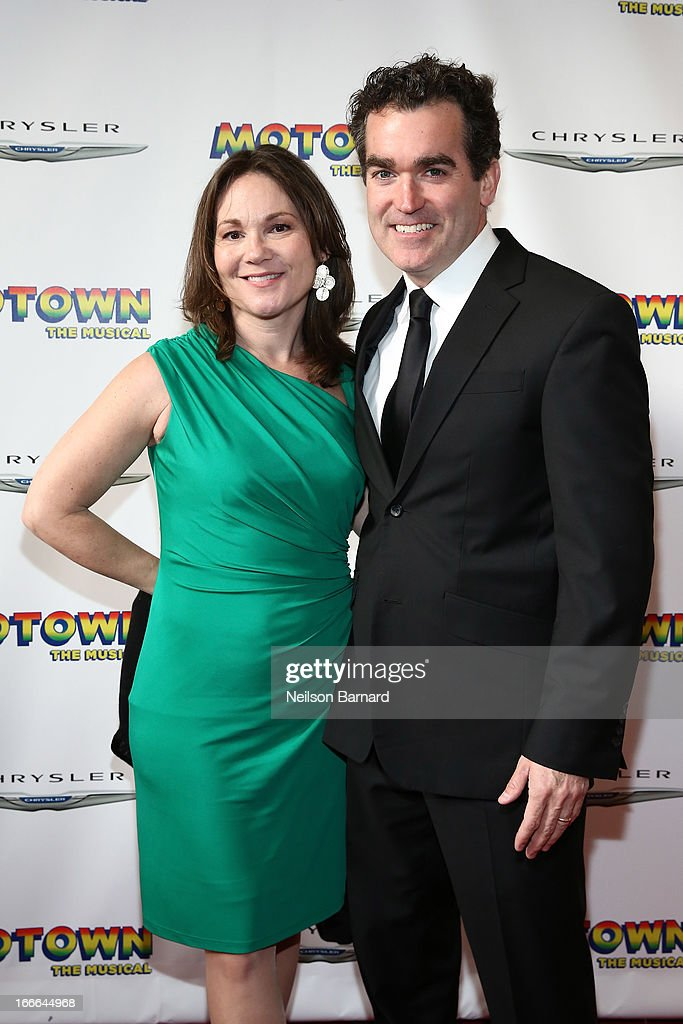 Brian Darcy James and Jennifer Prescott attend the Broadway opening night for 'Motown: The Musical' at Lunt-Fontanne Theatre on April 14, 2013 in New York City.