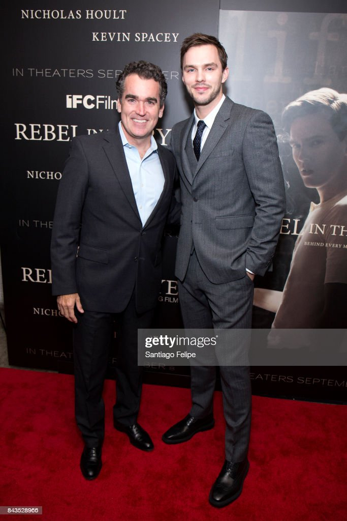 Brian D'arcy James and Nicholas Hoult attend 'Rebel In The Rye' New York premiere at Metrograph on September 6, 2017 in New York City.