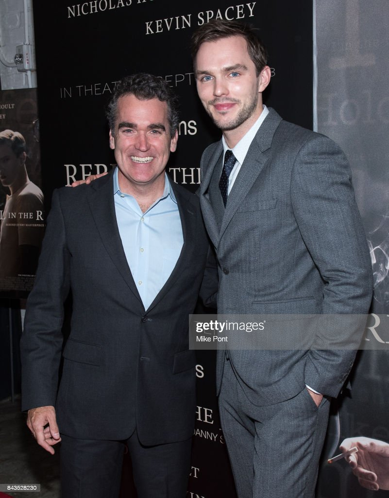 Brian d'Arcy James and Nicholas Hoult attend the 'Rebel in the Rye' New York Premiere at Metrograph on September 6, 2017 in New York City.