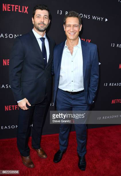 Brian d'Arcy James arrives at the Premiere Of Netflix's '13 Reasons Why' at Paramount Pictures on March 30 2017 in Los Angeles California