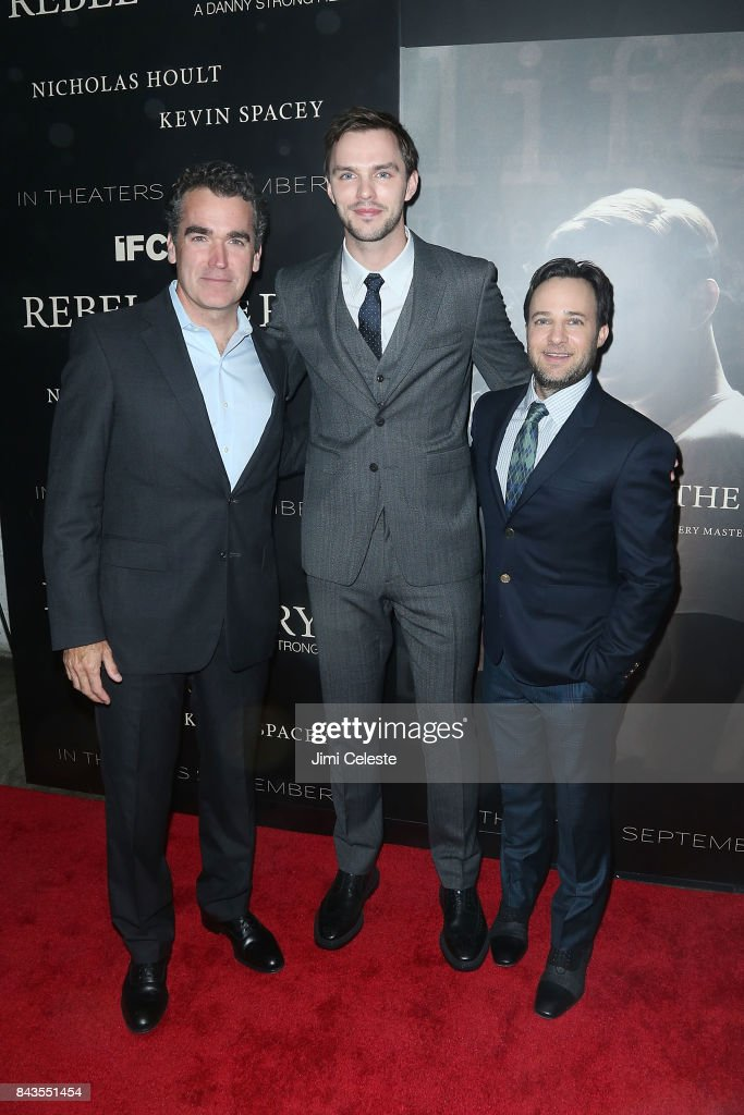 Brian d'Arcy James, Nicholas Hoult and Danny Strong attend 'Rebel in the Rye' screening and after party hosted by Jean Shafiroff and IFC Films at Metrograph on September 6, 2017 in New York City.