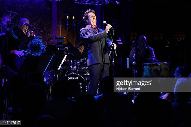 Brian d'Arcy James performs the encore of his rock 'n' roll show 'Under the Influence' on his birthday at 54 Below on June 29 2012 in New York City