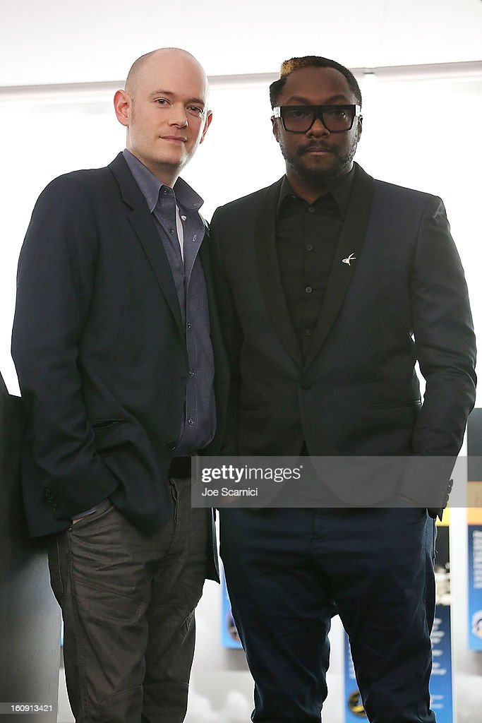 Brian David Johnson and will.i.am attend <a gi-track='captionPersonalityLinkClicked' href=/galleries/search?phrase=Will.I.Am&family=editorial&specificpeople=203050 ng-click='$event.stopPropagation()'>Will.I.Am</a>'s annual TRANS4M Day Conference focusing on TRANS4Ming America in 2013 on February 7, 2013 in Los Angeles, California.