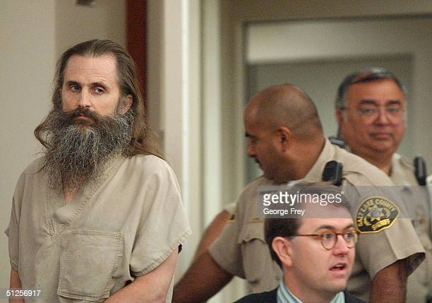Brian David Mitchell former homeless street preacher and kidnapper of Elizabeth Smart enters the court room for his arraignment before Third District...