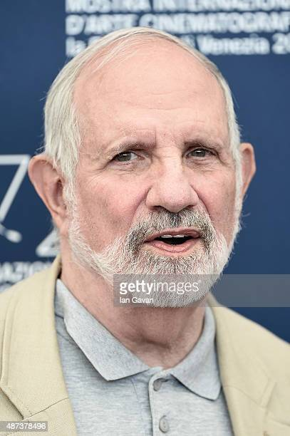 Brian De Palma attends a photocall for 'De Palma' And 'JaegerLeCoultre Glory To The Filmmakers 2015 Awards' during the 72nd Venice Film Festival at...