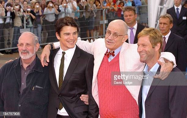 Brian De Palma director Josh Hartnett James Ellroy author and Aaron Eckhart
