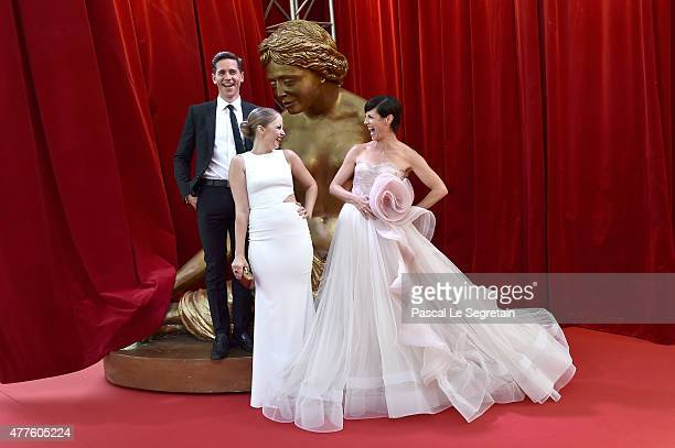 Brian Dietzen Elisabeth Harnois and Zoe McLellan attend the closing ceremony of the 55th MonteCarlo Television Festival on June 18 in Monaco