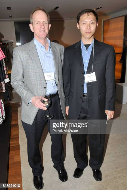 Brian Donaldson and William Chen attend LOUIS VUITTON Hosts UNIVERSITY of WATERLOO Alumni Event at Louis Vuitton Fifth Avenue on May 13 2010 in New...