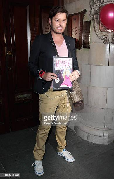 Brian Dowling arrives at the Press Night for Legally Blonde The Musical at The Savoy Theatre on July 13 2011 in London England