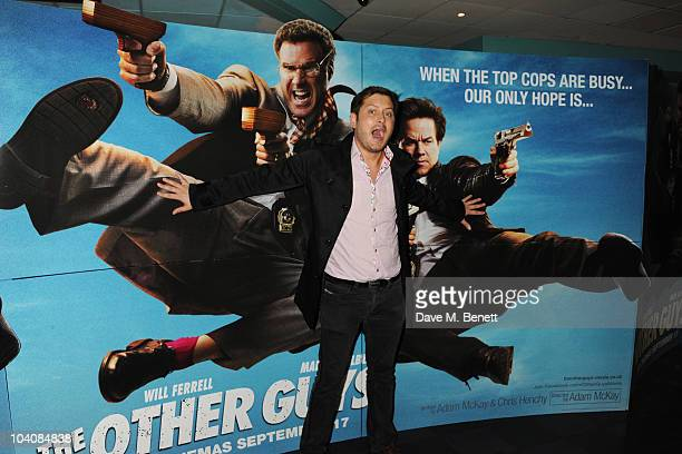 Brian Dowling attends 'The Other Guys' UK film premiere at Vue Leicester Square on September 14 2010 in London England