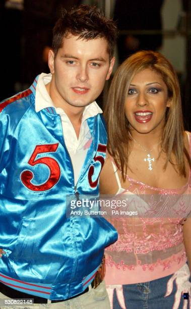 Brian Dowling Narinder Kaur arrive for the premiere of Britney Spears's debut feature film 'Crossroads' at the Odeon in Leicester Square London