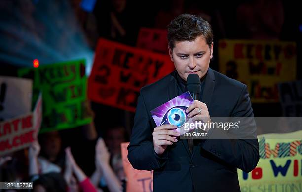 Brian Dowling presents the first eviction at the Celebrity Big Brother house at Elstree Studios on August 26 2011 in Borehamwood England